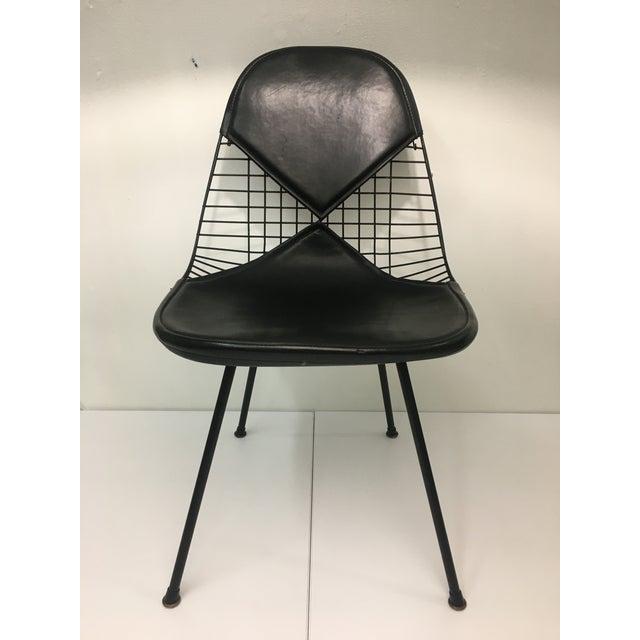 Vintage Black on Black D K R Bikini Chair by Charles Eames for Herman Miller For Sale - Image 12 of 12