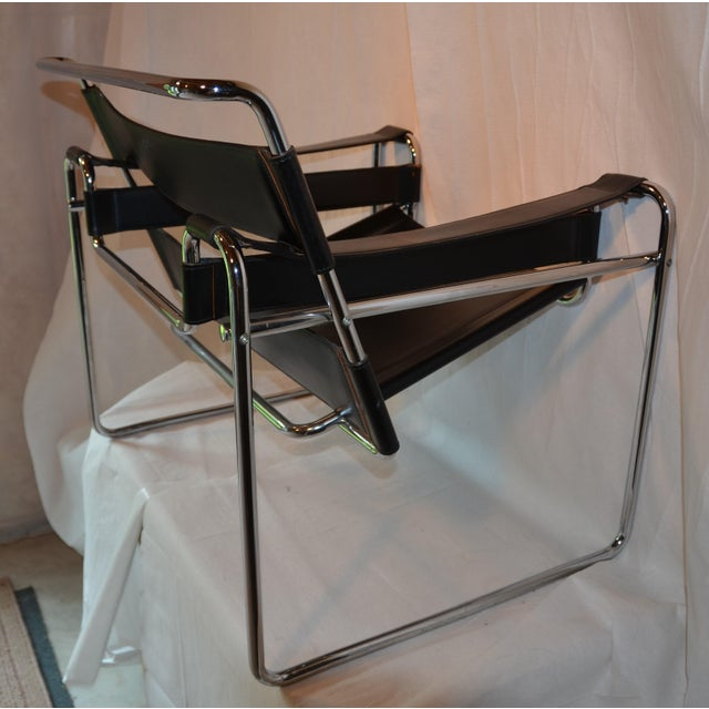 1980s Vintage Wassily Chair, in the Style of Marcel Breuer For Sale - Image 5 of 11