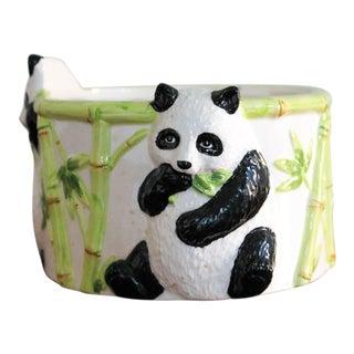Vintage Ceramic Panda Bear Planter For Sale