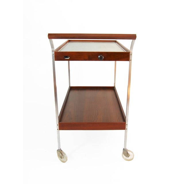Salton Mid-Century Hot Plate Serving Cart For Sale In New York - Image 6 of 6