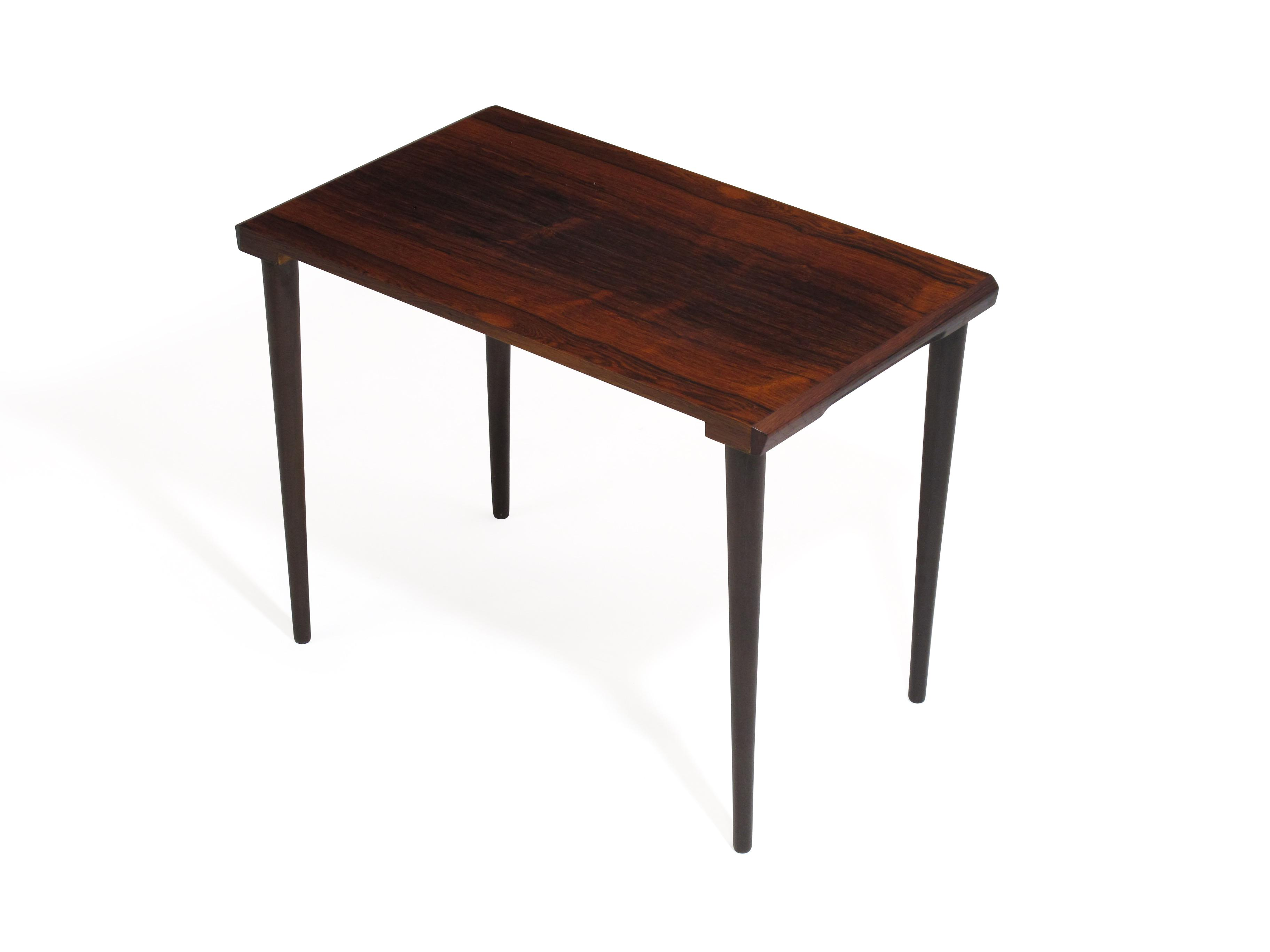 Danish Rosewood Nesting Side Tables   Image 3 Of 10