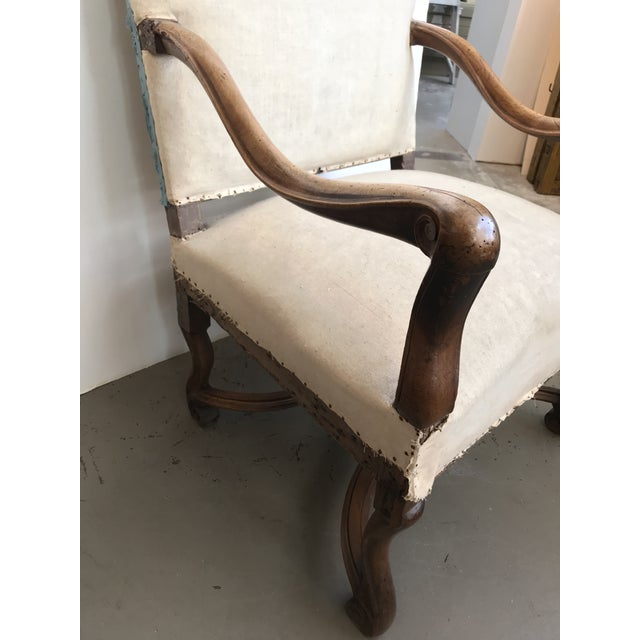 French 18th Century French Walnut Louis XIII Armchair For Sale - Image 3 of 8