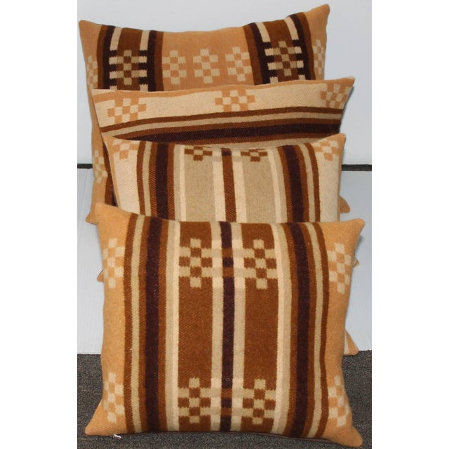 Group of Four Horse Blanket Pillows For Sale - Image 10 of 10
