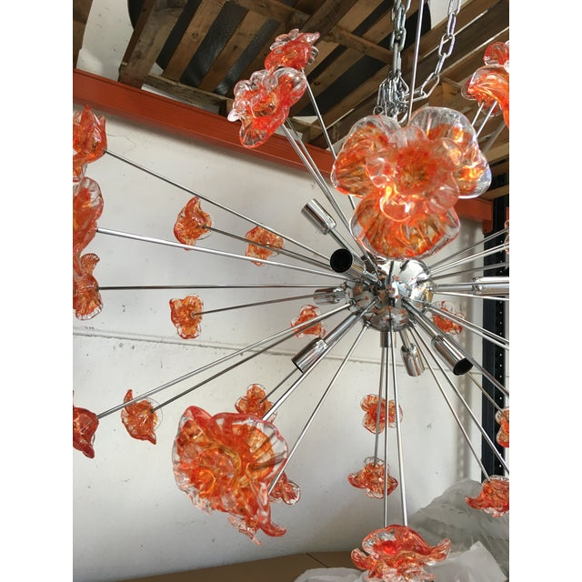 2010s Murano Glass Triedo Sputnik Flower Chandelier For Sale - Image 5 of 6