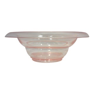 Art Deco Pink Glass Console Bowl