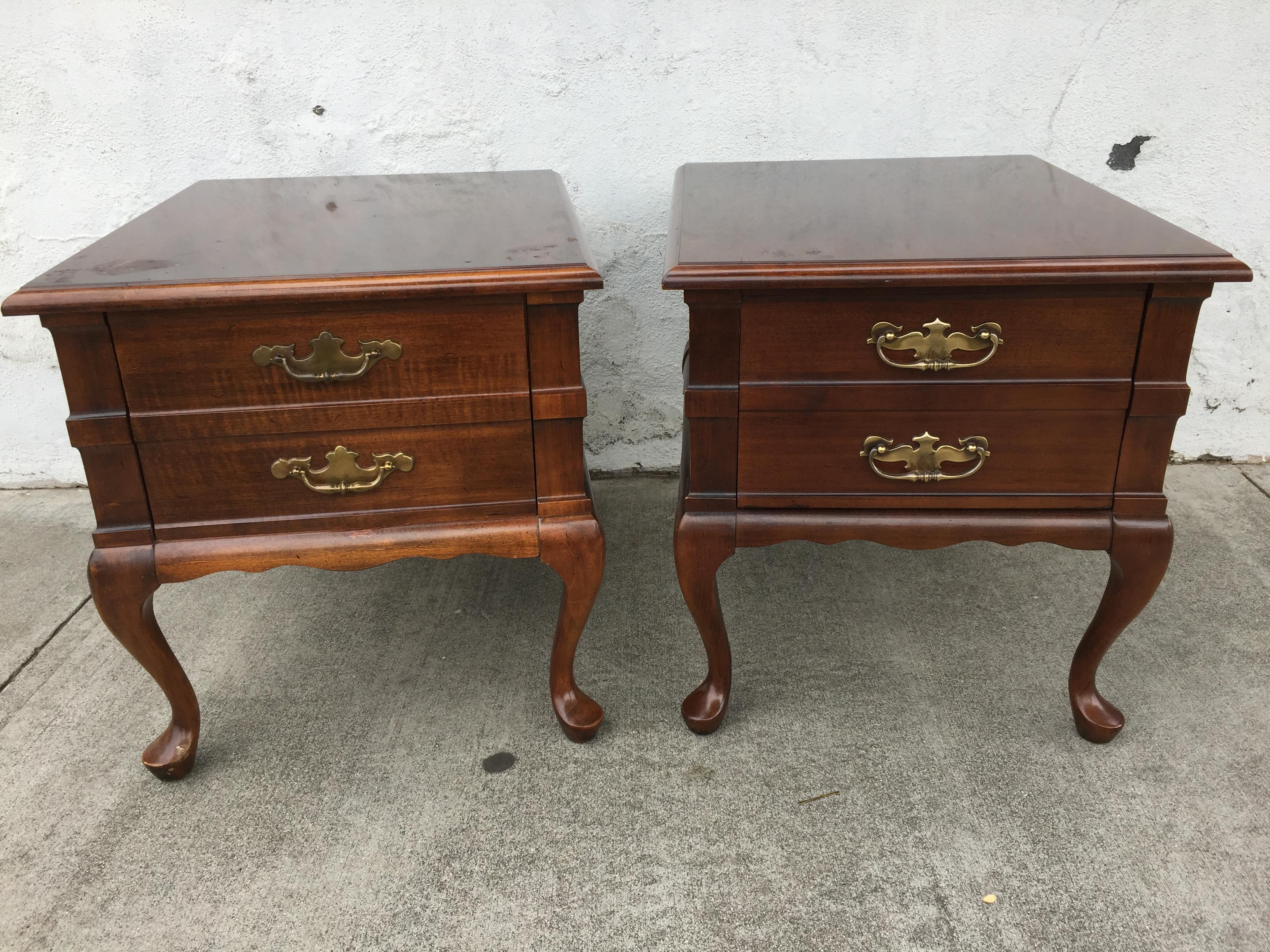 Mersman Queen Anne End Tables A Pair Chairish
