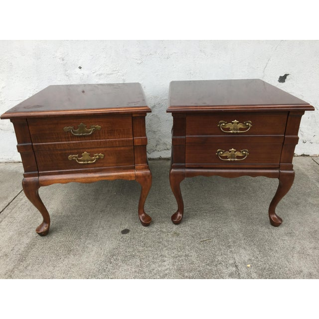 Mersman Queen Anne End Tables - A Pair - Image 2 of 10