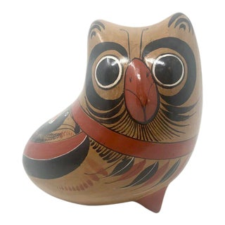 Vintage Mexican Tonalá Pottery Owl For Sale