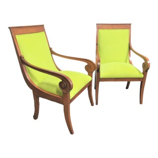 Ethan Allen Regency Style Chairs- a Pair For Sale