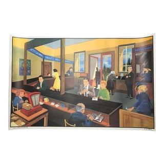 "Vintage French School ""La Poste/Chez Le Dentiste"" Two-Sided Poster"