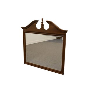 Jamestown Sterling Solid Cherry Pediment Top Dresser / Wall Mirror For Sale