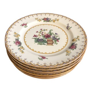Mid 20th Century Vintage Spode England Peplow Salad Plates - Set of 8 For Sale