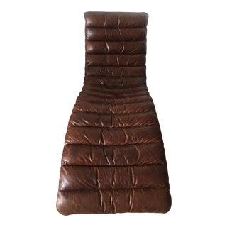 Restoration Hardware Cigar Leather Oviedo Chaise