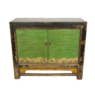 Distressed Gansu Black Cabinet For Sale