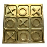 Image of 1970's Brass Tic Tac Toe Game - 11 Pieces For Sale