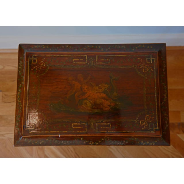 19th Century Regency Rosewood Workbox For Sale - Image 4 of 8