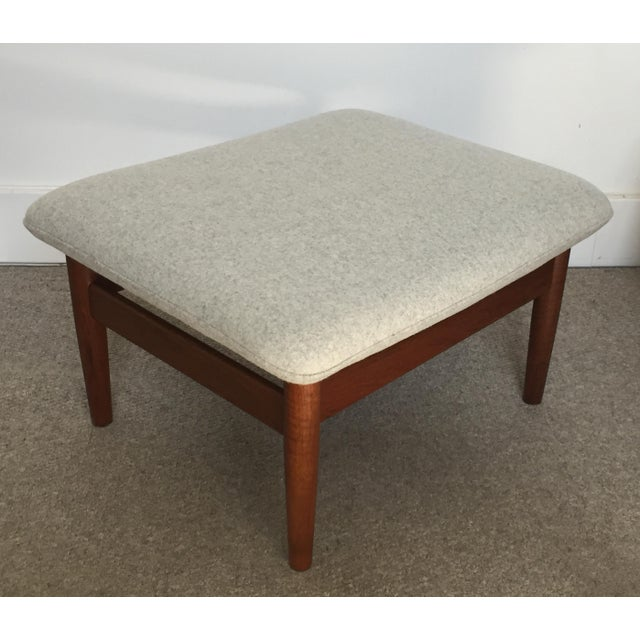 1950s Vintage Finn Juhl Japan Series Lounge Chair and Ottoman For Sale - Image 9 of 12