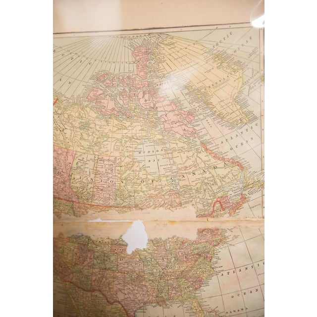 Blue Cram's 1907 Map of North America For Sale - Image 8 of 9