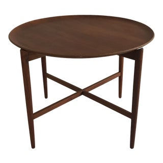 1960s Danish Modern Teak Tray/Side Table For Sale