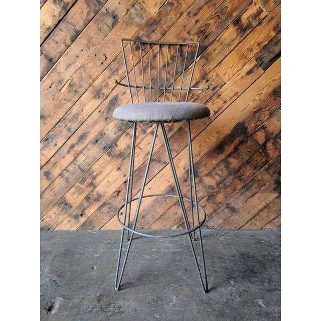 Mid Century 1950's Atomic Barstools For Sale In Los Angeles - Image 6 of 8