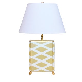 Modern Dana Gibson Painted Tole Parthenon Lamp For Sale