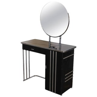 Machine Age Art Deco Royalchrome Dressing Table #347 by Royal Metal, 1936 For Sale