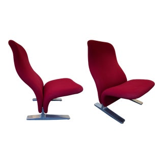 Pair of Concorde Armchairs by Pierre Paulin for Artifort. Netherland, 1960s For Sale