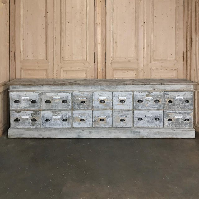 Grand 19th Century Apothecary Store Counter For Sale - Image 13 of 13