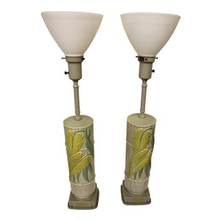 1950s Rembrandt Ceramic Table Lamps - a Pair For Sale