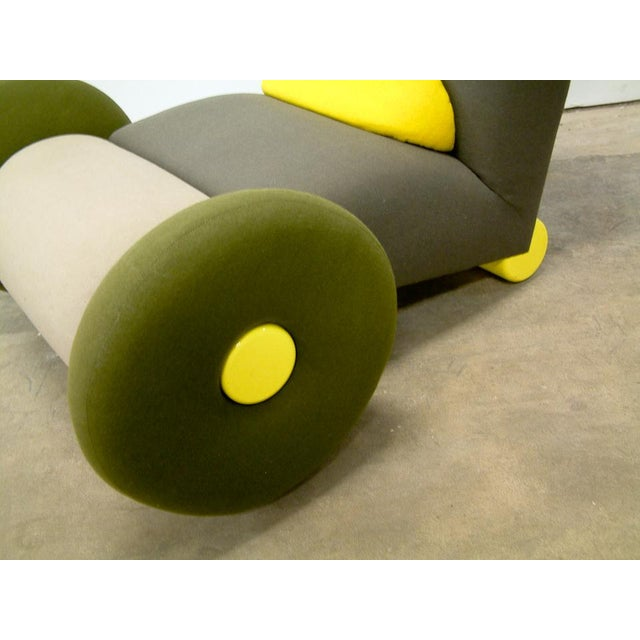 Green 1983 Italian Astoria Chair by Matteo Thun for Memphis For Sale - Image 8 of 9