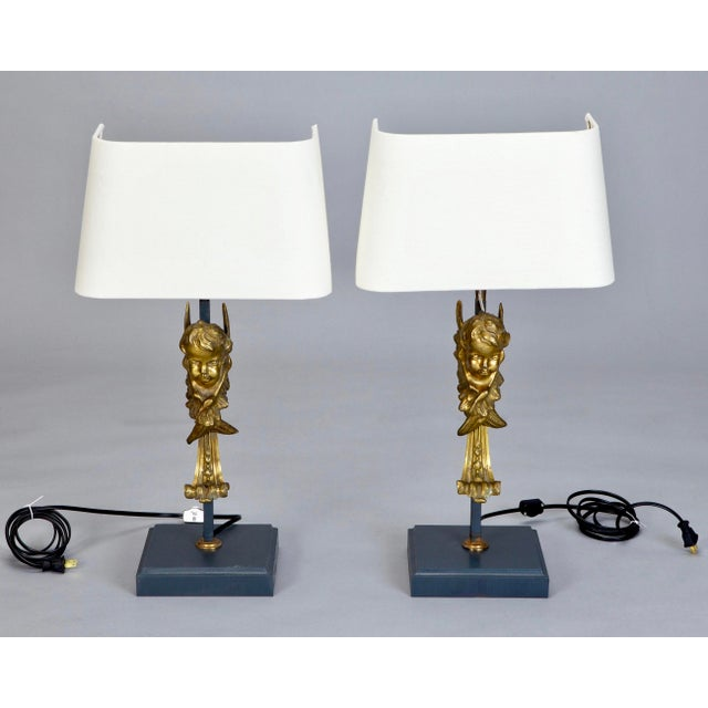 19th Century Italian Bronze Puti Cherub Table Lamps - A Pair - Image 2 of 5