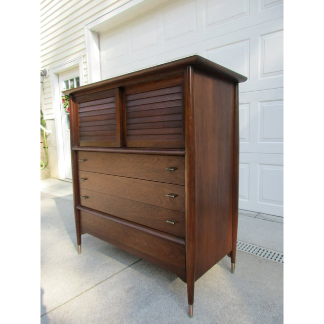 Mid-Century Modern Rway Tall Chest of Drawers -Custom Made For Sale - Image 6 of 13