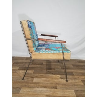 Vintage Mid Century Patchwork Arm Chair Preview