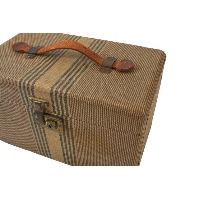 1940's Striped Train Case For Sale - Image 4 of 6