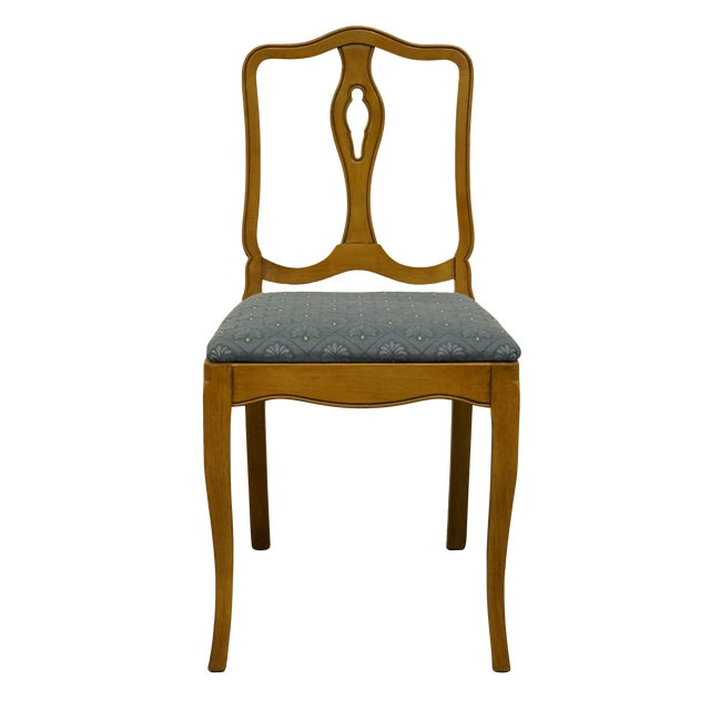 Late 20th Century Vintage Drexel Heritage Country French Regency Side Chair For Sale