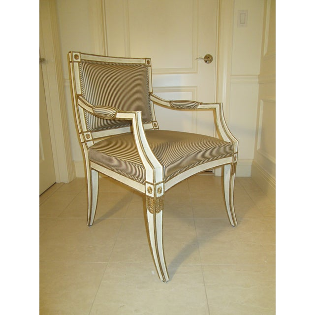 This is the Lugano Armchair by Minton-Spidell. It's elegant curves and neoclassical details make it a gorgeous accent in...