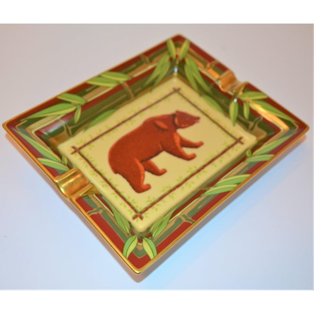 Hermès Vintage Hermès Bear and Bamboo Cigar Tray For Sale - Image 4 of 13