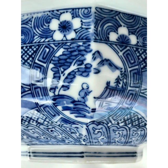 Japanese Blue & White Bowl For Sale In Miami - Image 6 of 7