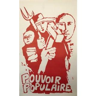 1968 Original French Riot Poster - Pouvoir Populaire For Sale