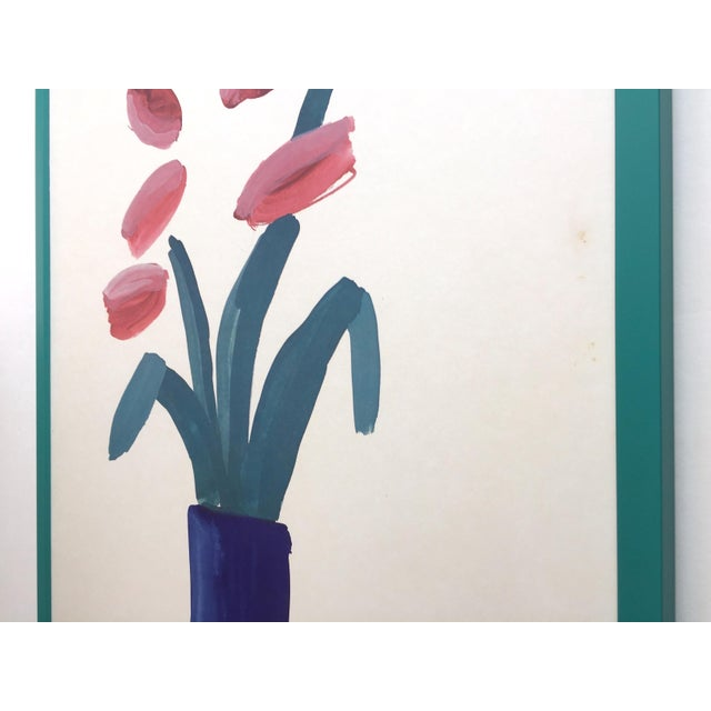 """David Hockney Rare Vintage 1981 Lithograph Print Framed"""" Paris Review """" 25th Anniversary Collector's Poster For Sale - Image 10 of 13"""