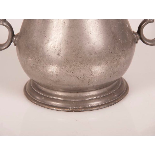 Large Pewter Urn with Two Shaped Handles from England c.1850 For Sale In Houston - Image 6 of 6