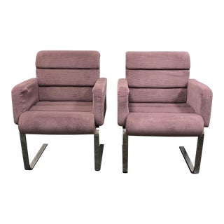 1970s Lugano Chairs by Mariani for Pace Collection - A Pair