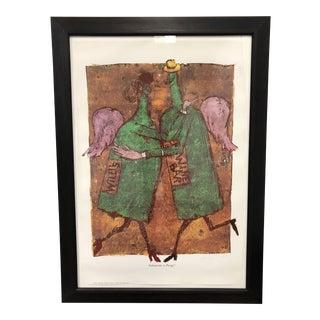 Daniel Pudles Custom Framed Willi's Wine Bar, 1991 Poster For Sale