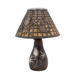 American Mission Heintz Art Metal Table Lamp For Sale