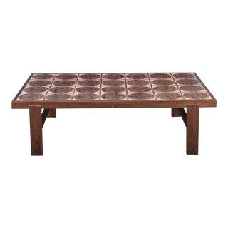 Danish Mid Century Tile-Top Coffee Table