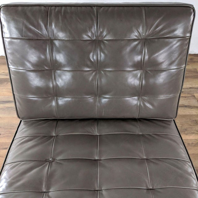 Metal Mitchell Gold + Bob Williams Major Leather Chairs - a Pair For Sale - Image 7 of 13