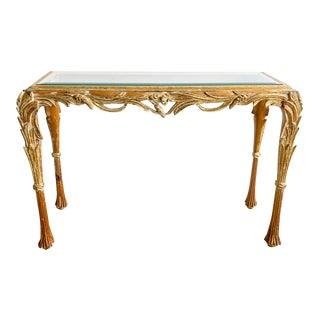 Italian Wood Carved Console
