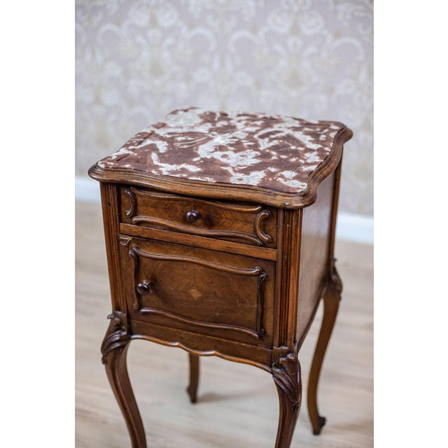 Late 19th Century 19th-Century Louis Philippe Nightstand For Sale - Image 5 of 10