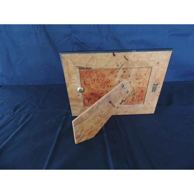 Hollywood Regency Authentic Gucci Inlaid Wood Picture Frame For Sale - Image 3 of 6