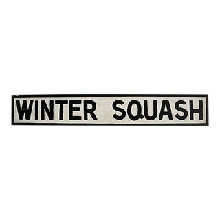 Vintage Winter Squash Farm Stand Sign For Sale